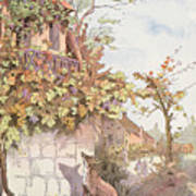 The Fox And The Grapes Art Print