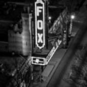 The Fox Thearter Bw Atlanta Night Art Art Print