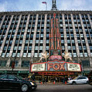 The Fox Theatre In Detroit Welcomes Charlie Sheen Art Print
