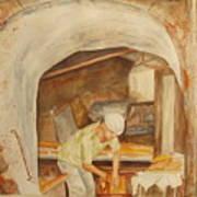 The French Baker Art Print