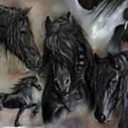 The Friesians In My Head Art Print by Caroline Collinson