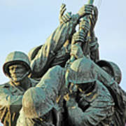 The Front Up Close -- The Iwo Jima Monument Art Print