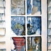 The Frosty Peep Hole Art Print by Mindy Newman