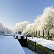 The Frozen Dallow Lane Lock Art Print