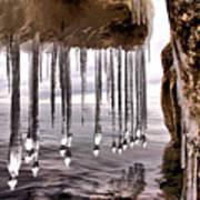 The Frozen Veil Art Print