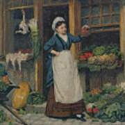 The Fruit Seller Art Print by Victor Gabriel Gilbert