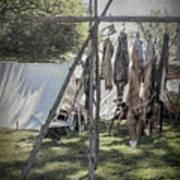 The Fur Trader's Camp 1812 Art Print