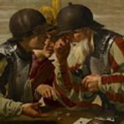 The Gamblers Art Print by Hendrick Ter Brugghen