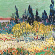 The Garden At Arles  Art Print by Vincent Van Gogh