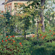 The Garden At Bellevue Art Print by Edouard Manet