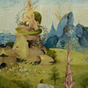 The Garden Of Earthly Delights, Detail Of Left Panel Showing Paradise Art Print