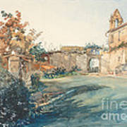 The Garden Of San Miniato Near Florence Art Print