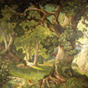 The Garden Of The Magician Klingsor, From The Parzival Cycle, Great Music Room Art Print