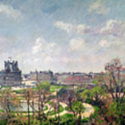 The Garden Of The Tuileries Art Print