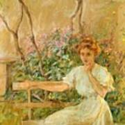 The Garden Seat 1911 Art Print