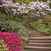 The Garden Steps Art Print