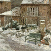 The Garden Under Snow Art Print