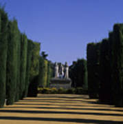 The Gardens Of The Alcazar Of Catholic Art Print