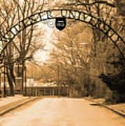The Gate At Widener University Art Print
