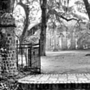 The Gates Of The Old Sheldon Church Art Print