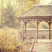 The Gazebo In The Woods Art Print by Lisa Russo