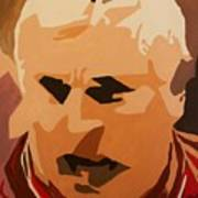 The General- Bobby Knight Art Print by Steven Dopka