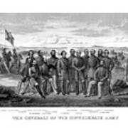 The Generals Of The Confederate Army Art Print
