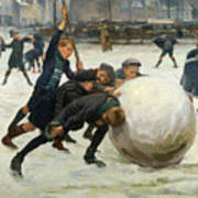 The Giant Snowball Art Print