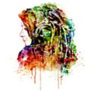The Girl Is A Dj Art Print