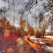 The Girl On The Path Art Print