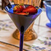 The Glass Of Strawberries Art Print