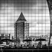 The Glass Windows Of The Market Hall In Rotterdam Art Print