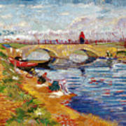 The Gleize Bridge Over The Vigneyret Canal  Art Print