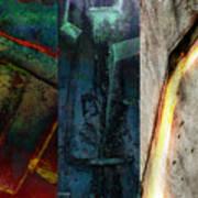 The Gods Triptych 1 Art Print by Ken Walker