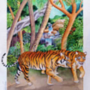 The Gold Of The Tigers Art Print