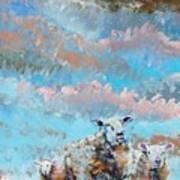The Golden Flock - Colorful Sheep Art Art Print