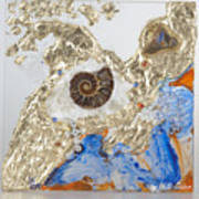 The Golden Flow Of Expansion Art Print