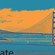 The Golden Gate Bridge In Sfo California Travel Poster 2 Art Print