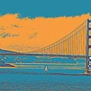 The Golden Gate Bridge In Sfo California Travel Poster Art Print