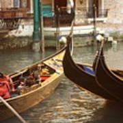 The Golden Gondola Art Print