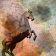 The Golden Horse Print by Issabild -