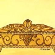 The Golden Jewelry Box Art Print
