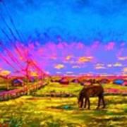 The Golden Meadow Art Print
