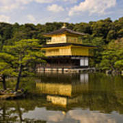 The Golden Pagoda In Kyoto Japan Art Print by David Smith