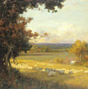 The Golden Valley Art Print by Sir Alfred East