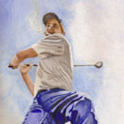 The Golfer Art Print