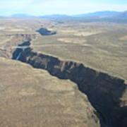 The Gorge Bridge In Taos Art Print