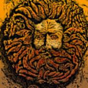 The Gorgon Man Celtic Snake Head Art Print