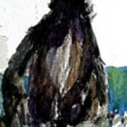 The Gorilla Snub Art Print