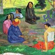 The Gossipers Art Print by Paul Gauguin